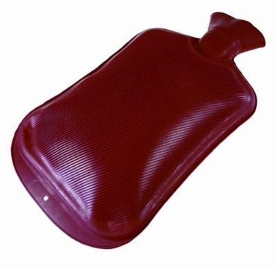 Wärmflasche Doppellamelle 2 Liter,rot