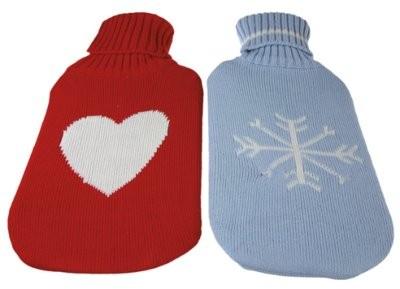 Wärmflasche m.Rollkragen- Pullover-Bezug