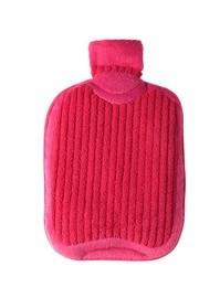 Körnerwärmflasche Leinsamen- Kräuter ca.20cm pink