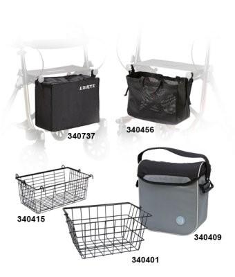Taschen, Körbe und Netze für Dietz Rollatoren