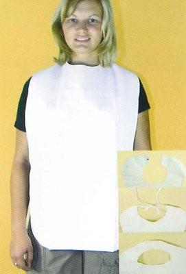 Lätzchen für Erwachsene,Folie mit Auffangtasche in versch. Ausführungen