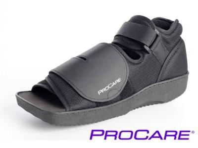 PROCARE Squared Toe Verband- Schuh schwarz in versch. Größen