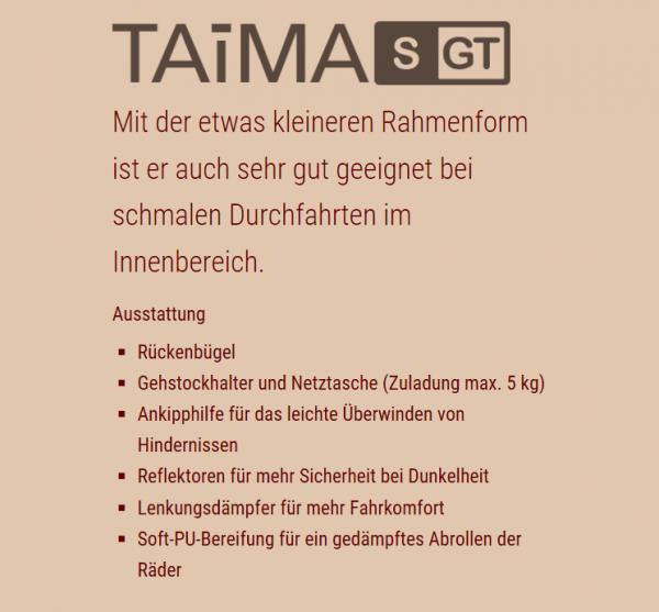 Leichtgewichtrollator TAiMA GT m.Stockh. und Netz