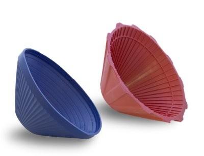 Gummi Verschlußöffner m. Kegelgriff blau oder rot