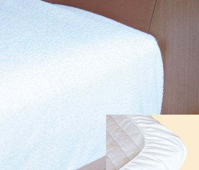 Spannbettbezug Folie/Frottee, weiß in versch. Größen
