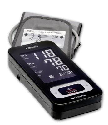 OMRON MIT Elite Plus Oberarm- Blutdruckmeßgerät,schwarz