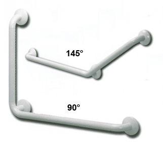 Wandhaltegriff 44/69cm, 90 Grad,weiß (CORAM)