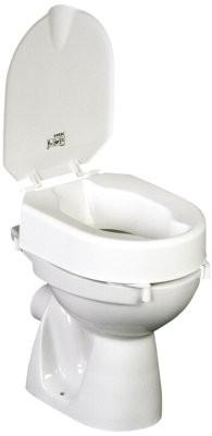 Hi-Loo Toilettensitzerhöhung m.Klammern,m.Deckel,10cm